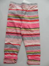Catimini baby girls Sz 1M 000 & 6M 00 pink striped leggings pants NWT