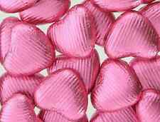 PINK FOIL WRAPPED CHOCOLATE FOILED LOVE HEARTS WEDDING VALENTINES PARTY FAVOURS
