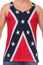 MEN'S REBEL PRIDE TANK TOP CONFEDERATE FLAG SLEEVELESS TEE SOUTHERN DIXIE SHIRT