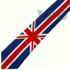 UK Flag Classic TIE -Union Jack Flag Necktie United Kingdom Formal Tie UK Colors