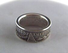 1921 Morgan Silver Dollar coin ring - size 12 thru 15