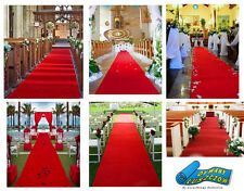 RED CARPETS WEDDING ROLL RUNNER - CHEAP PRICE ALL SIZE ! BEAUTIFUL AISLE CARPET