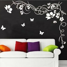 Living Room Vinyl Wall decal sticker Flower vines Butterfly Mural Decor 2 COLOR