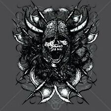 Screaming Viking Skull (supersized) T Shirt You Choose Style, Size, Color 10031