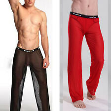 Men Man Sexy Lounge Sheer See-through Baggy Yoga Sports Pants Trousers Underwear