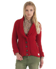 New Womens Superdry Shawls Cardigan Knit Jumper Scarlet Red SD
