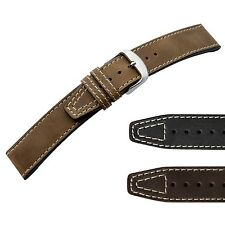 Genuine Hand-finished Leather Watch Strap Vintage Style Di-Modell Nevada KN 1215