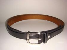 Men Big and Tall Black Brown leather belt 1 inch wide size 46-48 50-52 54-56