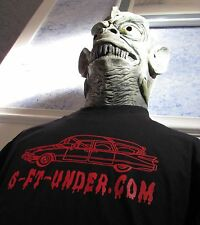 Hearse Driver t-shirt NEW Hearse Halloween Evil Goth Skull Skeleton 6-ft-under