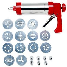 Wolfgang Puck 22-piece Stainless Steel Cookie Press Set (Red or Black)