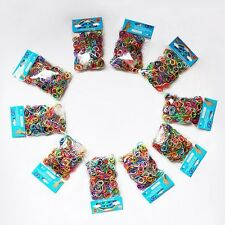 600 Rainbow Color Loom Silicon Rubber Bands Bracelet Refill  For SALE!!!!