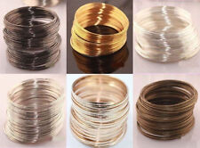 100loops Silver/Gold Plated Memory Steel Wire For Cuff Bangle Bracelet 0.6*60mm