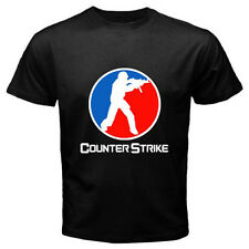 New *COUNTER STRIKE Logo Famous Online Video Game Black T-Shirt Size S-3XL
