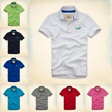 NWT Hollister by Abercrombie Men's Muscle Slim Fit Wipeout Beach Polo T-Shirts