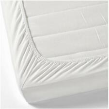 800 TC 100% Cotton Solid White 1-PC FITTED SHEET Select Bed Size & Deep Pockets