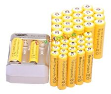 20x AA 3000mAh + 20x AAA 1800mAh 1.2V Ni-MH Yellow Rechargeable Battery +Charger