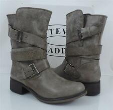 Women's shoes Steve Madden BREWZZER  Leather banded boots in Stone