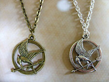 "The Hunger Games Style Mockingjay Bird Charm Pendant 20"" Chain Necklace"
