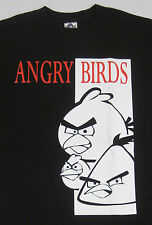 ANGRY BIRDS T-shirt Video Game Scarface Parody Tee Adult Mens S,M,L Black New