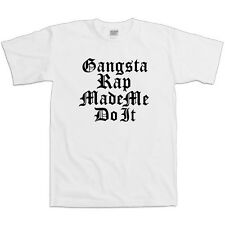 Gangster Rap Made Me Do It Rap Music Shirt Funny Party Drugs Cool Tee T Shirt