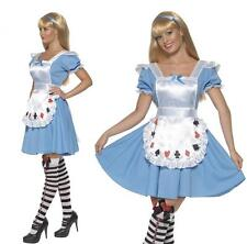 Ladies Alice in Wonderland Fancy Dress Costume Female Cards Girls outfit Hen