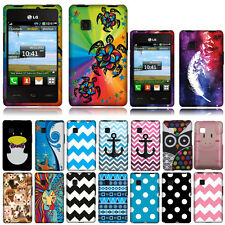 For Tracfone LG 840G Geometric Snap On HARD Case Cover Accessory