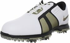 Closeout Nike Zoom Trophy Golf Shoes White/Metallic Gold Grain/Black
