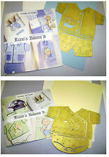 BABY DECOUPAGE PROJECT PACK - ELINE'S BABIES 3  - BLUE/APPLE & YELLOW