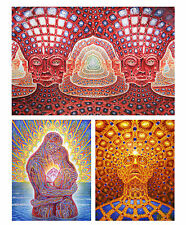Alex Grey Trippy Soul Net of Being Ocean Love Art Deco Retro Poster A1,A2,A3,A4