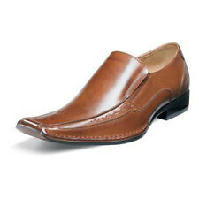 Stacy Adams Mens TEMPLIN Brown Leather Slip On Comfort Dress Shoes