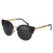 Hot Sale Fashion Mens and Womens Retro Round Glasses Vintage Cat Eye Sunglasses