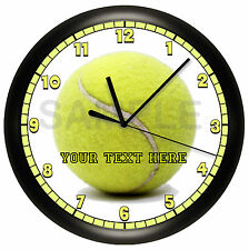 TENNIS BALL WALL CLOCK PERSONALIZED GIFT GIRLS BEDROOM DECOR SPORT CLUB TEAM
