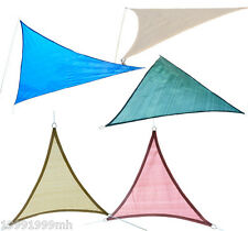 Outsunny Triangle Sun Shade Sail Canopy Pool Yard Patio Top Cover Outdoor Use