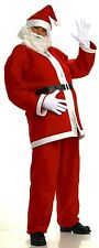 Red Santa Claus Costume Suit St Nick XMAS Mens Adult Hat Beard Jacket Pants NEW