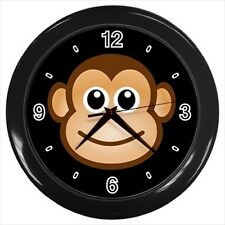 Happy Monkey Face - Wall Clock (Choose from 7 Colors) -HH4493