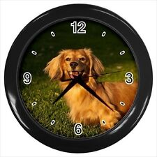 Long Haired Dachshund Dog - Wall Clock (Choose from 7 Colors) -HH4625