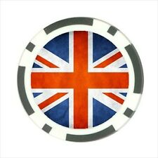 United Kingdom Country Flag  - Poker Chip Guard / Golf Ball Marker - FG5029