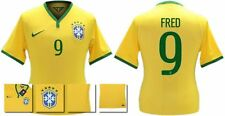 *14 / 15 - NIKE ; BRAZIL PLAYER ISSUE HOME SHIRT SS / FRED 9 = SIZE*