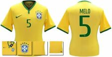 *14 / 15 - NIKE ; BRAZIL PLAYER ISSUE HOME SHIRT SS / MELO 5 = SIZE*