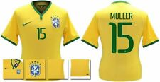 *14 / 15 - NIKE ; BRAZIL PLAYER ISSUE HOME SHIRT SS / MULLER 15 = SIZE*