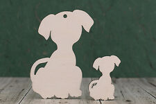 Wooden Cute Dog Shapes, 4mm birch ply wood craft Blank,  plaques and pyrography