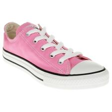 New Infants Converse Pink All Star Ox Canvas Trainers Lace Up