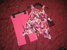 Girls New 2 piece outfit by Pogo Club NY top and leggings choose the size new