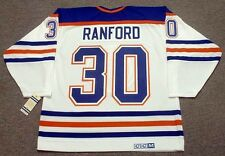 BILL RANFORD Edmonton Oilers 1990 CCM Vintage Throwback Home NHL Hockey Jersey