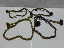 """TAI"" FRIENDSHIP BRACELET GOLD BEAD BROWN, PURPLE, OR GOLD THREAD BRAND NEW"