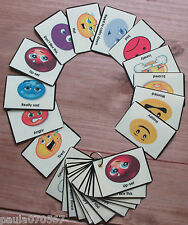 Emotions flash cards SEN~Autism~Learning difficulties~Teaching aid~School~Home~