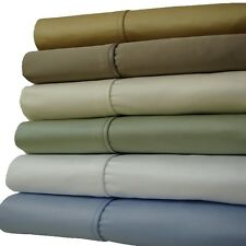 California-King Solid Sheet Set,1200 TC Extra Deep Pocket 100% Cotton Bed Sheets