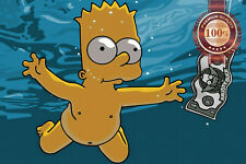 NEW NEVERMIND SIMPSONS BART SWIMING NIRVANA WALL ART PRINT PREMIUM POSTER