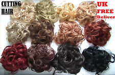 Elastic Scrunchie Hair Curly Bun Hair Piece Hair Extension Over 30 COLOURS