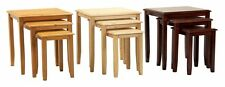 Kingfisher Nest Of Tables Solid Rubberwood In Natural Mahogany OR Maple